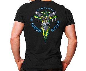 Camiseta Militar Estampada Academia Da Força Aérea Preta - Atack