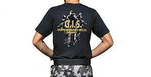 Camiseta Militar Estampada G.I.S. Preta - Atack