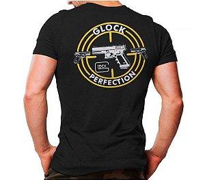 Camiseta Militar Estampada Glock Preta - Atack
