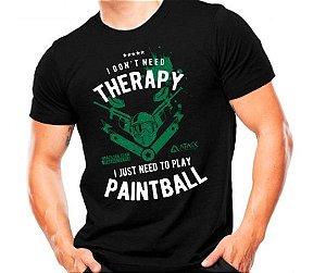 Camiseta Militar Estampada Play Paintball Preta - Atack