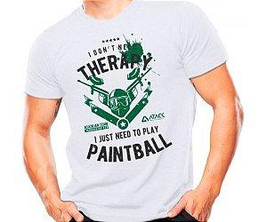 Camiseta Militar Estampada Play Paintball Branca - Atack