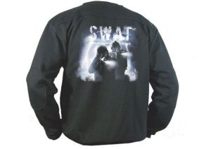 Blusa De Moletom Estampada Swat Storm Preta - Elite