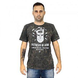 Camiseta Militar Estampada Brothers In Arms Corte Laser Estonada Cinza - Atack