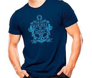 Camiseta Militar Estampada Marinha Do Brasil Azul Estampa Azul - Atack