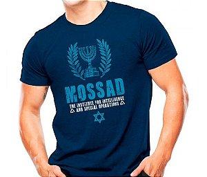 Camiseta Militar Estampada Mossad Azul - Atack