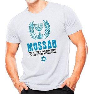 Camiseta Militar Estampada Mossad Branca - Atack