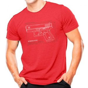 Camiseta Militar Estampada Glock G43 Vermelha - Atack
