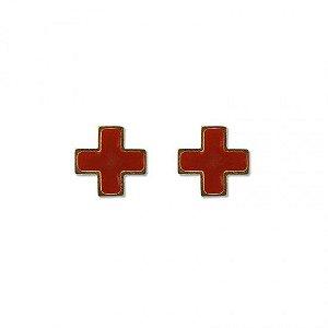 Distintivo De Metal Saúde Dourado - Gola