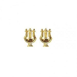 Distintivo De Metal Músico Dourado - Gola
