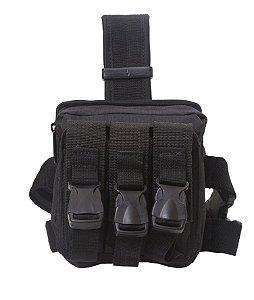 Pochete Bornal Tactical Bag Belt Preta - Atack