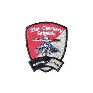 Patch Bordado Com Fecho De Contato 21 St Cavalry