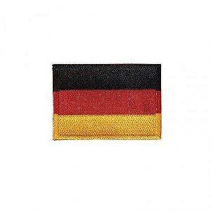 Patch Bordado Com Fecho De Contato Bandeira Alemanha
