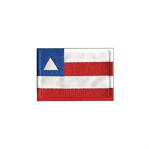 Patch Bordado Com Fecho De Contato Bandeira Bahia
