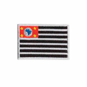 Patch Bordado Com Fecho De Contato Bandeira São Paulo