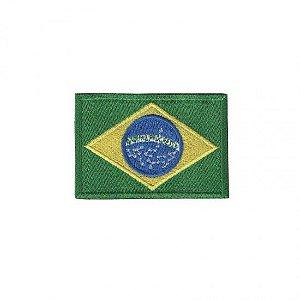 Patch Bordado Com Fecho De Contato Brasil