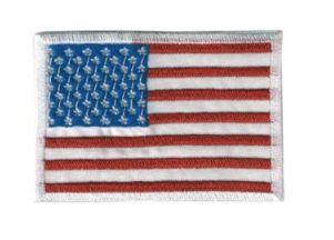 Patch Bordado Com Fecho De Contato Bandeira EUA