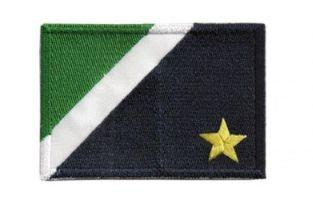 Patch Bordado Com Fecho De Contato Bandeira Mato Grosso Do Sul