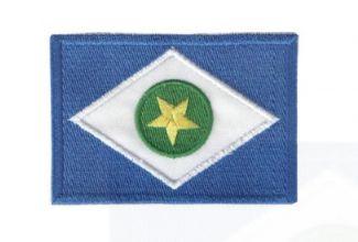 Patch Bordado Com Fecho De Contato Bandeira Mato Grosso