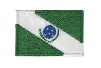 Patch Bordado Com Fecho De Contato Bandeira Paraná