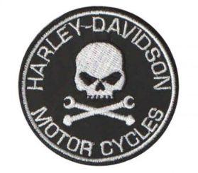 Patch Bordado Com Fecho De Contato Harley Davidson Iii