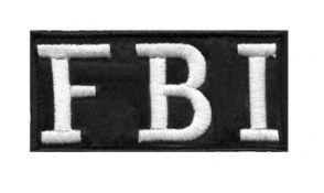 Patch Bordado Com Fecho De Contato Fbi