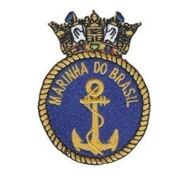 Patch Bordado Com Fecho De Contato Marinha Do Brasil