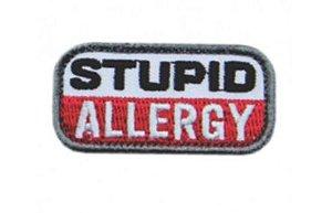 Patch Bordado Com Fecho De Contato Stupid Allergy