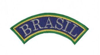 Patch Bordado Com Fecho De Contato Tarjeta Brasil