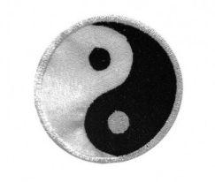 Patch Bordado Com Fecho De Contato Yin & Yang