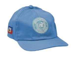Boné Militar Bordado Missão De Paz No Haiti  Azul - Atack