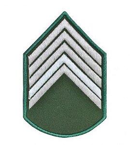 Divisa Bordada 2° Sargento Verde