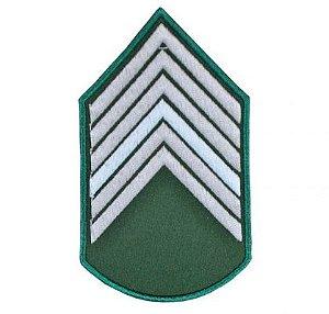Divisa Bordada 1° Sargento Verde