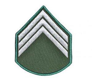 Divisa Bordada 3° Sargento Verde