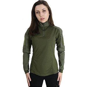 Combat Shirt Feminina Verde - Bélica