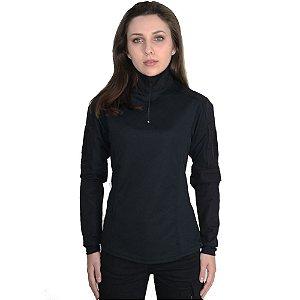 Combat Shirt Feminina Preta - Bélica