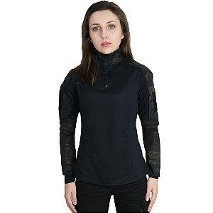 Combat Shirt Feminina Multicam Black - Bélica
