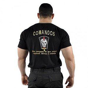 Camiseta Militar Bordada Comandos