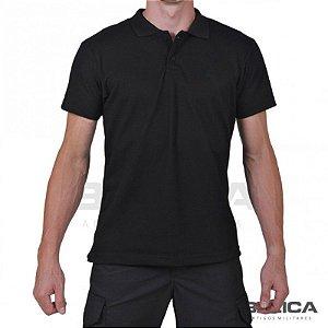 Camiseta Gola Polo Preta Bélica