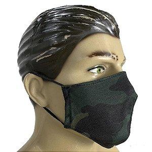 Máscara Tecido Dulpo 100% Algodão - Multicam Black