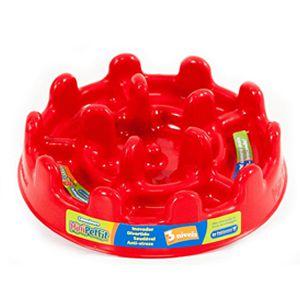 PET GAMES COMEDOURO LENTO PET FIT MINI 20cm VERMELHO  para cães e gatos até 10kg.