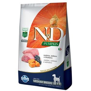 ND PUMPKIN CAO ADULTO MEDIUM CORDEIRO 2,5 KG