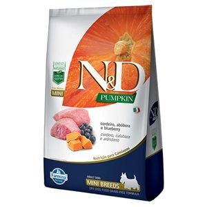 ND PUMPKIN CAO ADULTO MINI CORDEIRO 2,5 KG
