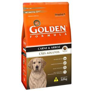 Ração Golden Fórmula Cães Adultos Sabor Carne e Arroz 3Kg