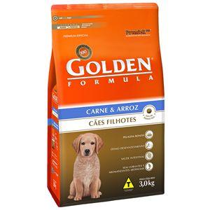 Ração Golden Fórmula Cães Filhotes Sabor Carne e Arroz 3Kg