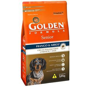 Ração Golden Fórmula Cães Senior Mini Bits Sabor Frango e arroz 3Kg