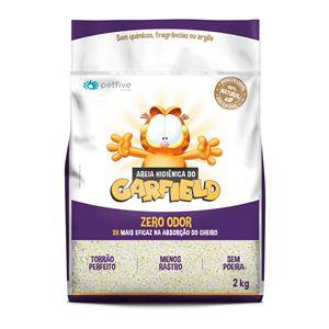 Areia Higiênica Garfield Biodegradável Grossa para gatos 2kg