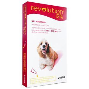 Revolution Antipulgas 10 a 20kg 12% 1ml Para Cães Zoetis