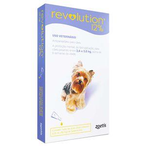 Revolution Antipulgas 2,6 a 5kg 12% 0,25ml Para Cães Zoetis