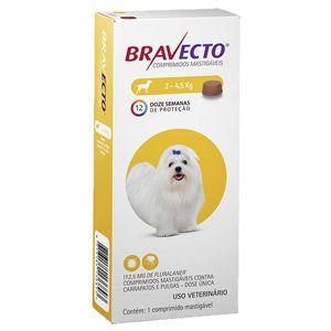 Bravecto Anti Pulgas e Carrapatos para Cães de 2 A 4,5Kg