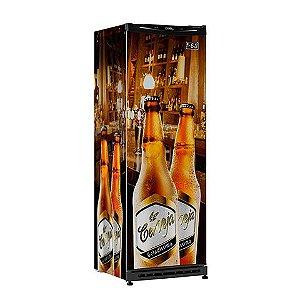 Refrigerador Vertical Esmaltec CV300R Adesivado - 110v